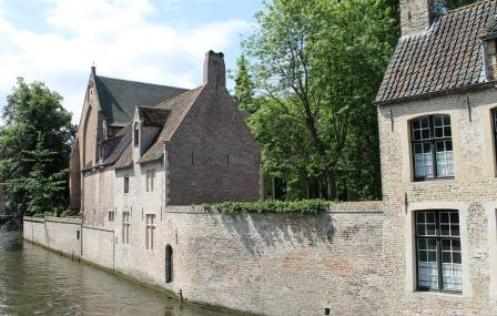 The walls of the Beguinage in Bruges