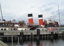 The Waverley docked at Largs ( Ann Burnett)