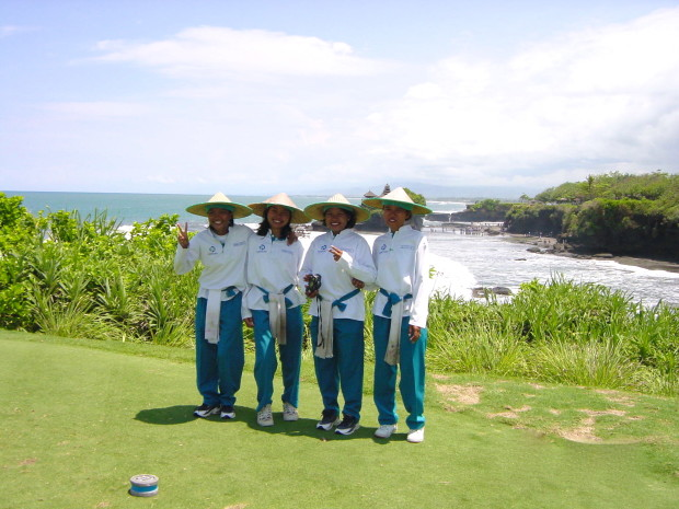 The gracious and helpful caddies at Nirwana Bali Golf Club (Photo credit: MCArnott)