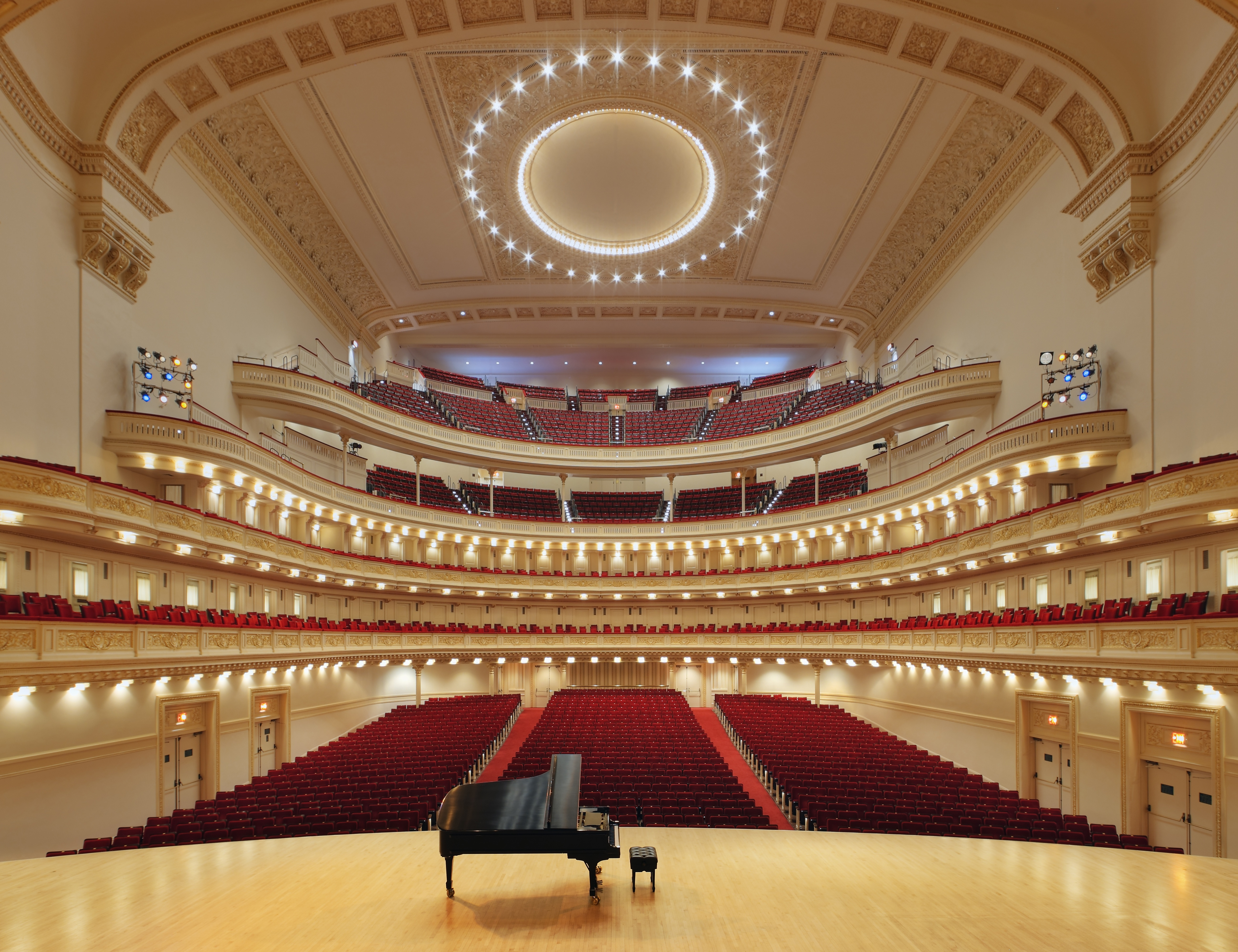 Hearing concerts for less at new york s carnegie hall for Hall interior images
