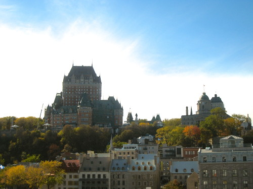 Québec City Château Frontenac in the Fall (Photo MCArnott)