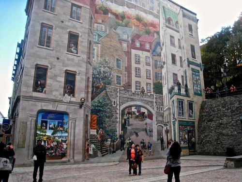 The Fresque des Québécois at Place-Royale retraces 400 years of the city's History (Photo: MCArnott)