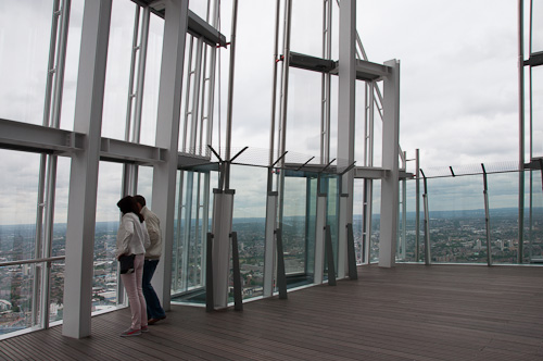 Level 72 offers a partially open view of London (photo credit: Mary Ann Hemphil)