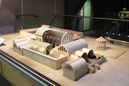The Museum shows what the original baths complex may have looked like