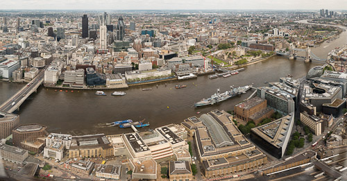 River Thames and the Tower of London (photo courtesy of The View from The Shard)