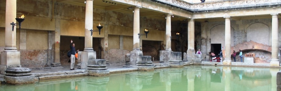 Walking With the Ancients at the Roman Baths, Bath, England