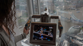 Interactive digital Tell:Scopes enhance the amazing view (photo courtesy The View from The Shard)