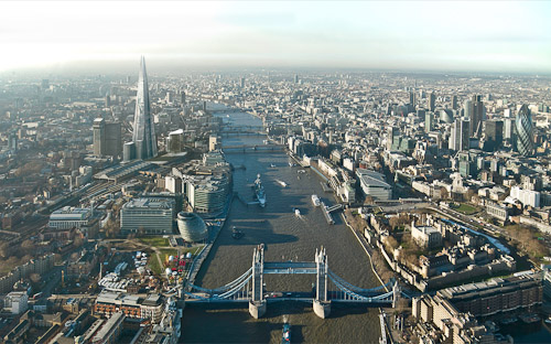 The Shard is in the heart of the London Bridge Quarter (photo courtesy The View from the Shard)