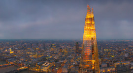 Evening panorama of The Shard, London (photo courtesy of The View from the Shard)