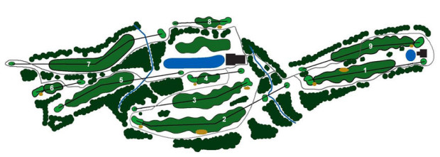 Golf course layout (Courtesy Bowen Island Golf Club)