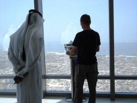 Burj Khalifa attracts many visitors (photo credit: Ann Burnett 2014)