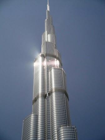 The Burj Khalifa rises into the sky (photo credit: Ann Burnett 2014)