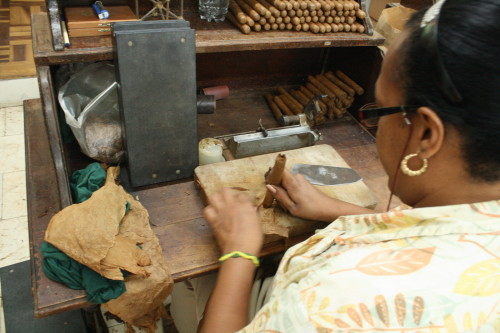 Cigars are made by Cuban hand-rollers at Graycliff.