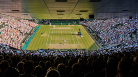 Centre Court during The Championships at Wimbledon.