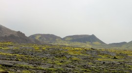 A view of Iceland's lava fields