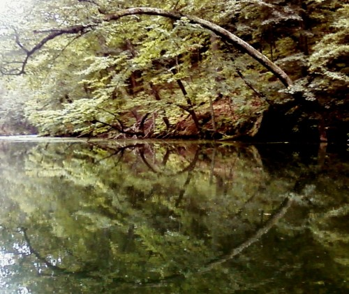 Protected from wind and wake, Mirror Lake is well-named
