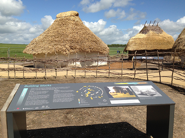 Replica village of Stonehenge peoples