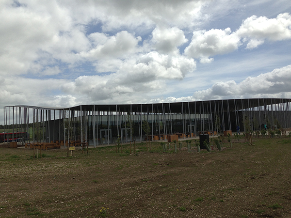 The new visitor center at Stonehenge