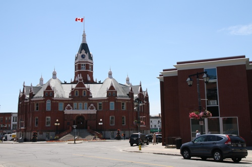 Stratford City Hall is a landmark (photo credit: Laura Byrne Paquet, c 2014).