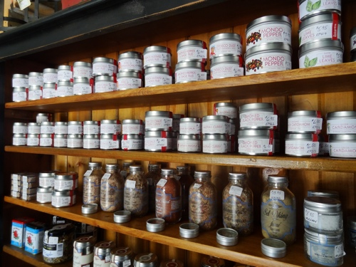 Spices and salts at Turnbull & Stewart (photo credit: Laura Byrne Paquet, c 2014).