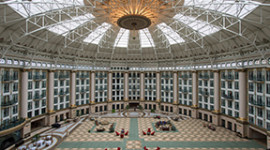 Inside the grand atrium (courtesy French Lick Resort)