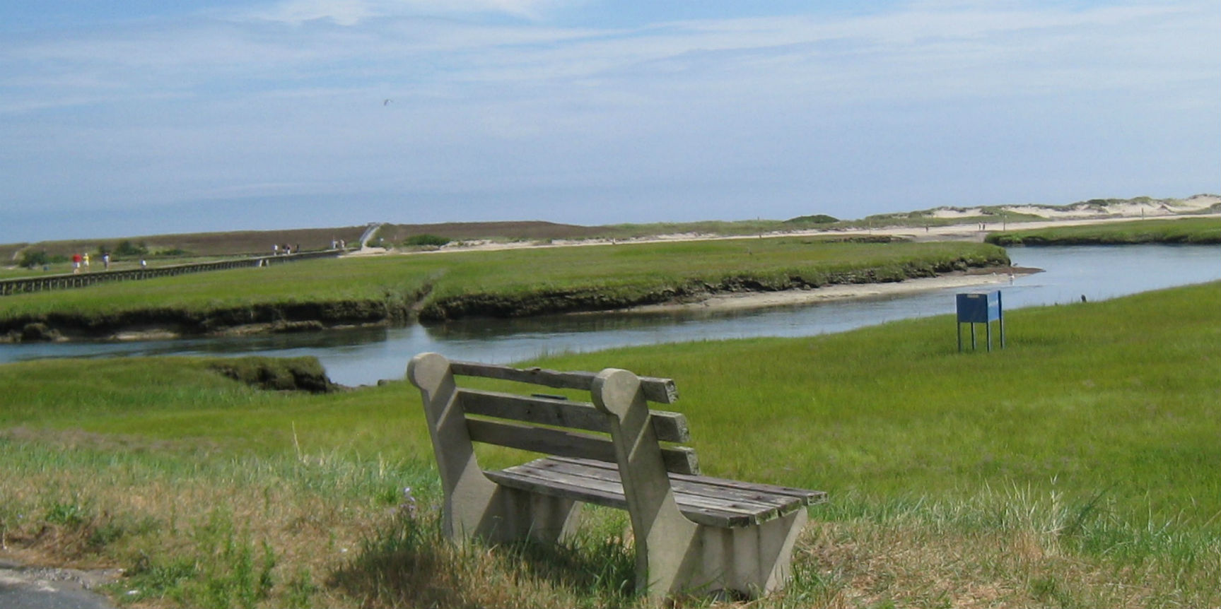 Looking down Mill Creek at Sandwich Boardwalk, Cape Cod. Photo credit: H. Nijkamp