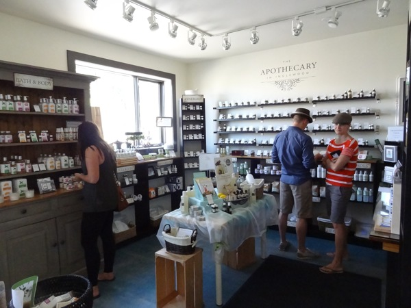 The scents of essential oils fill the air at The Apothecary in Inglewood (photo credit: Laura Byrne Paquet, c 2013).