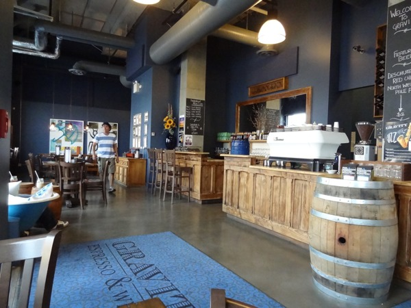 Serving up wine and live music as well as lattes and loose-leaf teas, Gravity is far from an average coffee shop (photo credit: Laura Byrne Paquet, c 2013).