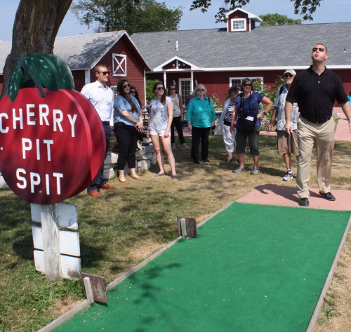 Spitting pits at Orchard Country Winery and Market