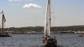 Maine Windjammers off Rockland (Photo by Stillman Rogers)