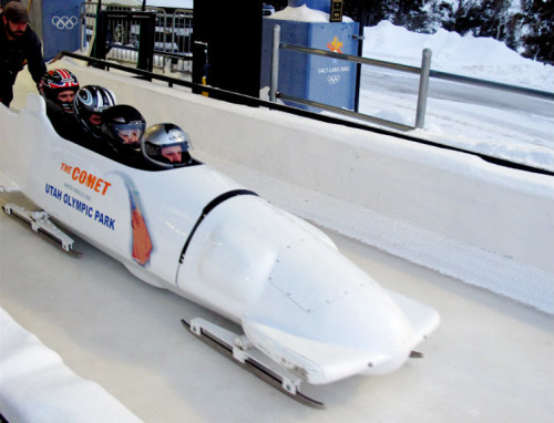 Utah's Olympic Park 4-person bobsled