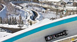Bobsled track at Utah Olympic Park