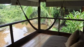 The casitas at the Reserva Amazonica