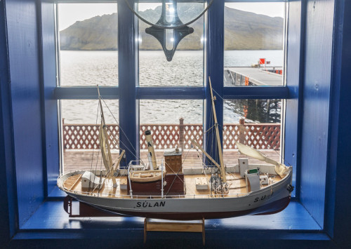 Model boat in the Nordfjordur Museum known locally as Museum House. Eastern Iceland. Photo by Yvette Cardozo