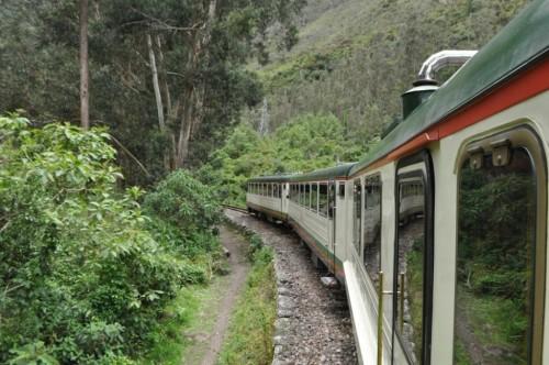 Riding toward Machu Picchu