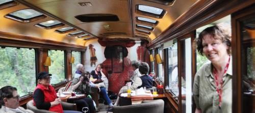 "Inca Rail's private car, the ""Inca Princess"""