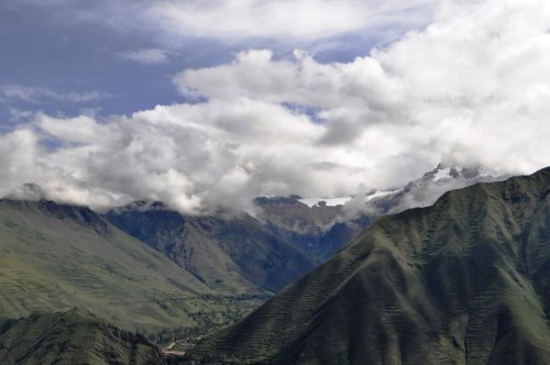 The Andes tower over the Sacred Valley