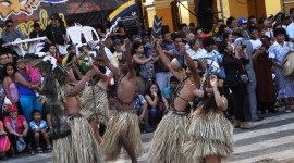 amazon dancers at Lina Carnaval