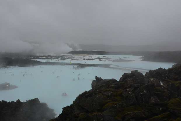 The vast basin that is the Blue Lagoon in Iceland