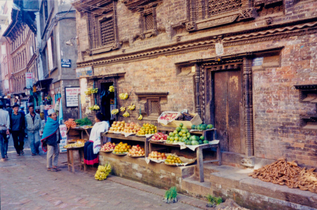 City life in Bhaktapur, Nepal