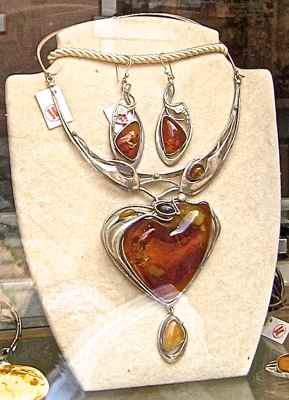 What to buy in poland shopping for amber in gdask buckettripper cognac color amber jewelry set mozeypictures Choice Image