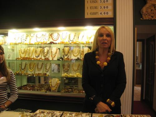 Amber Jewelry store in Gdansk (Photo by MCArnott)